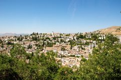 Città di Granada Fotografia Stock Libera da Diritti
