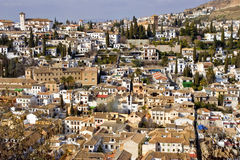 Città di Granada, Spagna Immagini Stock Libere da Diritti