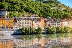 Città di Grenoble in Francia Fotografie Stock Libere da Diritti