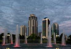 Città di Groznyj - capitale cecena Fotografie Stock