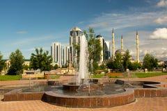 Città di Groznyj - capitale cecena Fotografie Stock Libere da Diritti