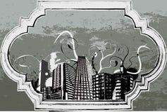 Città di Grunge Illustrazione di Stock