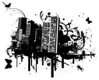 Città di Grunge Fotografie Stock Libere da Diritti