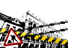 Città di Grunge royalty illustrazione gratis