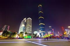 Città di guangzhou di notte Immagine Stock Libera da Diritti