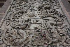 Città di Guzhen, Anju, Chongqing, Cina fotografie stock libere da diritti