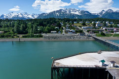 Città di Haines vicino alla baia di ghiacciaio, Alaska, U Fotografie Stock