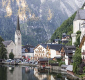 Città di Hallstatt in Austria Fotografia Stock Libera da Diritti