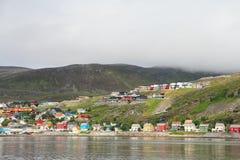 Città di Hammerfest Fotografia Stock