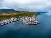 Città di Hammerfest, Finnmark, Norvegia Fotografia Stock