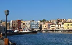 Città di Hania all'isola del Crete in Grecia Fotografia Stock Libera da Diritti