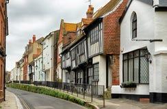 Città di Hastings in Sussex orientale Fotografie Stock