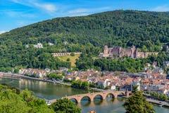 Città di Heidelberg fotografia stock