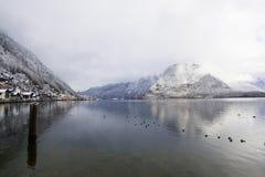Città di hesitage di Hallstatt 4000 anni in Austria Fotografia Stock Libera da Diritti