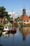 Città di Hindeloopen (Frisia) Immagine Stock