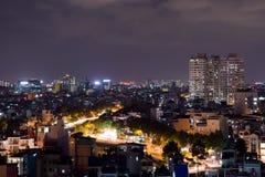 Città di Ho Chi Minh alla notte immagine stock