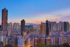 Città di Hong Kong, alta densità, zona difficile Fotografie Stock Libere da Diritti