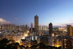 Città di Hong Kong, alta densità, zona difficile Immagini Stock Libere da Diritti