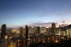 Città di Hong Kong, alta densità, zona difficile Immagini Stock