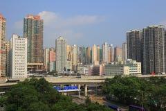 Città di Hong Kong, alta densità, zona difficile Immagine Stock