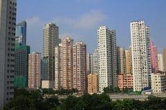 Città di Hong Kong, alta densità, zona difficile Fotografia Stock Libera da Diritti