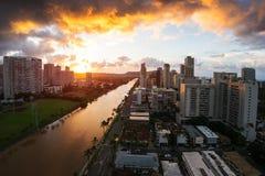 Città di Honolulu fotografia stock libera da diritti