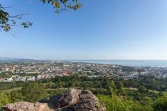 Città di Hua Hin in Tailandia, punto di punto di vista di Hua Hin fotografie stock