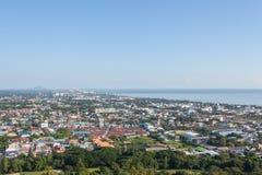 Città di Hua Hin in Tailandia, punto di punto di vista di Hua Hin immagini stock