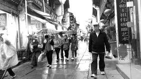Città di Huangshan Fotografie Stock
