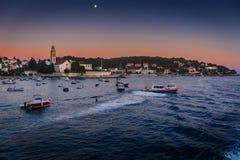 Città di Hvar in Croazia Immagine Stock