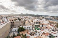 Città di Ibiza e porto, Isole Baleari fotografie stock