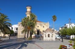 Città di Ierapetra all'isola del Crete, Grecia fotografia stock libera da diritti