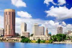 Città di Il Cairo, lungonmare di Nile River. L'Egitto. Immagini Stock