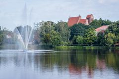Città di Ilawa in Polonia fotografia stock
