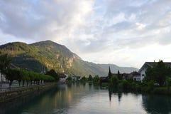 Città di Interlaken Immagini Stock Libere da Diritti
