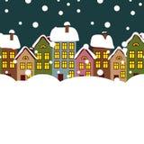 Città di inverno illustrazione di stock
