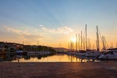 Città di Isola, Slovenia fotografia stock libera da diritti