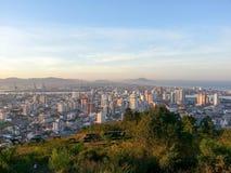 Città di Itajaà da sopra Immagini Stock