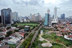 Città di Jakarta Fotografie Stock Libere da Diritti