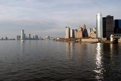 Città di Jersey e di New York Immagine Stock Libera da Diritti
