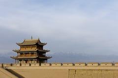 Città di Jiayuguan Fotografie Stock