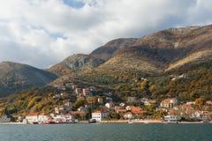 Città di Kamenari montenegro Fotografia Stock Libera da Diritti