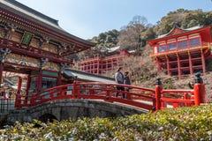 CITTÀ DI KASHIMA, SAGA, GIAPPONE - 11 MARZO 2017: Yutoku Inari è una S Immagine Stock Libera da Diritti