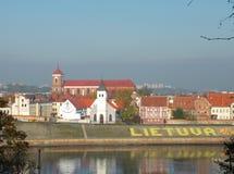 Città di Kaunas di vista, Lituania immagine stock libera da diritti