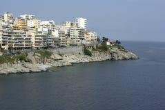 Città di Kavala immagine stock libera da diritti