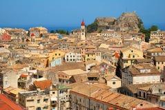Città di Kerkyra a Corfù Fotografia Stock Libera da Diritti