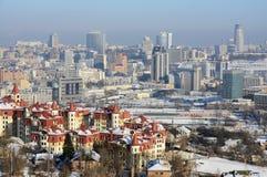 Città di Kiev all'inverno Immagini Stock Libere da Diritti