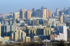 Città di Kiev all'inverno Fotografie Stock