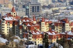 Città di Kiev all'inverno Fotografia Stock