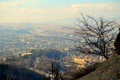 Città di Kislovodsk dal livello Fotografie Stock